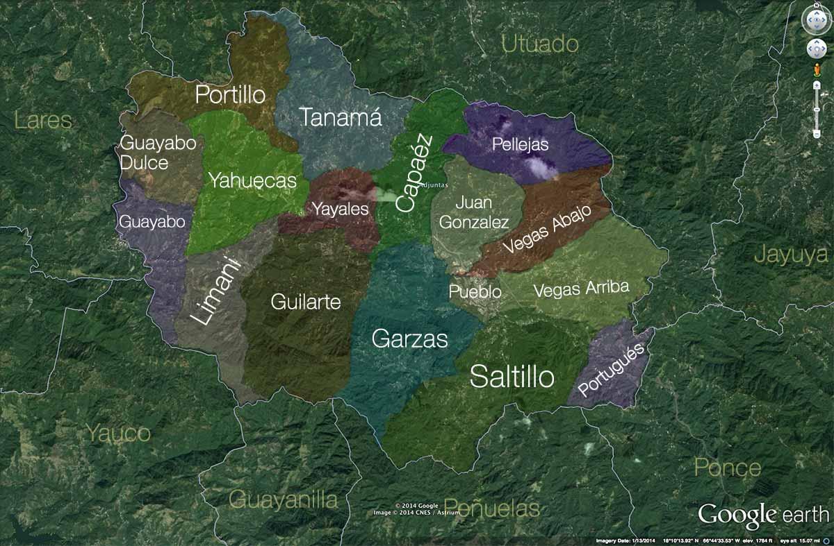 Mapa Adjuntas