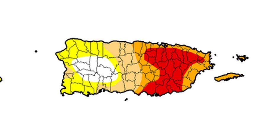 (Imagen del Monitor de Sequía de Estados Unidos)